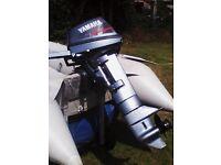 YAMAHA 6 HP LONG SHAFT BOAT OUTBOARD ENGINE 1996