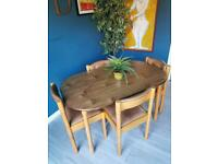 Retro Mid Century Dining Table And Chairs - Magistretti Style