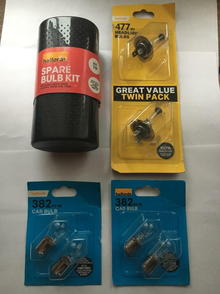 Halfords Spare Car Bulbs New Unused Vauxhall Zafira In Amp Wiring Kit