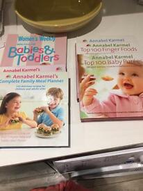Selection of annabel karmel weaning books