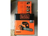 Brand New Black + Decker CS2245-GB Corded Chainsaw, 45 cm, 2200 W