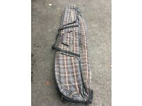 Dakine Roller Double ski/snowboard bag, brown Plaid. VGC, used twice.