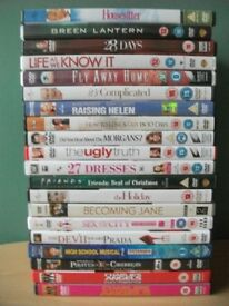 Lot of 20 Comedy, Drama and Family Movie DVDs meryl streep, disney, katherine heigl, cameron diaz