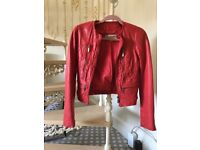 New Michael Kors red leather jacket