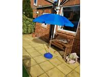 5ft parasol & matching stand