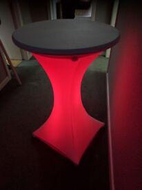 illuminated poseur tables for sale £50 each