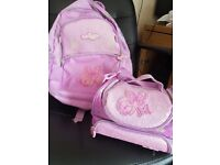 Smiggle backpack and matching lunchbag