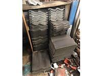 Sandtoft double pan tile grey