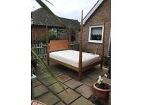 Quality Ethan Allen four poster double bed and mattress ( can deliver )
