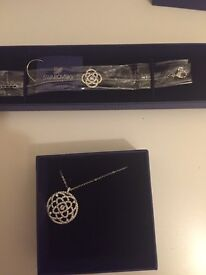 New Swarovski Necklace and Bracelet. Unused and delivered with the boxes and cleaning tools