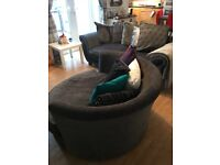 Beautiful sofa and cuddle chair