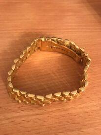 18CT GOLD GENTS BRACELET FOR SALE
