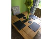 Next Faux Leather Black Place Table Mats & Coasters Dining Table