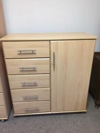 Beech Chest of Drawers Unit
