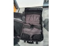 Black Wardrobe Suitcase with built-in suit and shoe carrier
