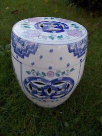 Vintage Oriental ceramic stool