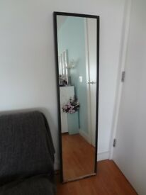 IKEA mirror with black wooden frame