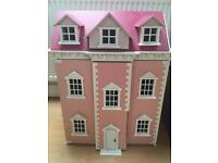 Beautiful dolls house for sale complete with furniture