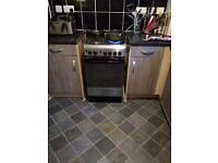 Stainless steel Indesit gas cooker