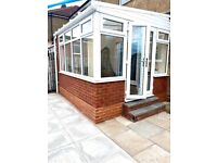 Practically new conservatory