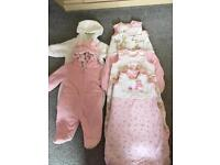 3 x Grobags & 2 Snow/Pram Suits - Baby Girl
