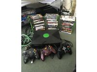 Original XBOX console bundle 3 controllers and 44 games