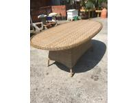 Alexander rose rattan table for sale.