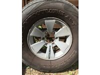 Shogun alloy wheels and tyres X4