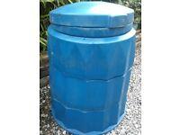 BLUE PLASTIC COMPOST BIN