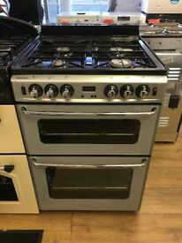 STOVES 60CM ALL GAS COOKER IN SILIVER WITH LID