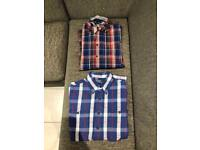 Two men's designer shirts Hilfiger & Ralph Lauren