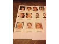 Coronation street signed cards over 40