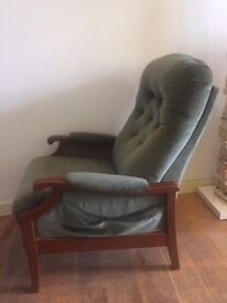 Vintage Armchair in dark green