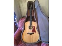 TAYLOR 210E Electro Acoustic Guitar (USA - All solid woods) with Taylor case