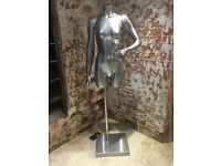 Silver Female Shop Mannequin