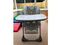 Chicco polly height adjustable high chair