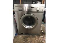 Smeg stainless steel washing machine 5kg 1600spin