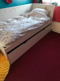 Single IKEA bed with pull out single bed underneath