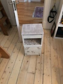 Upcycled bedside table