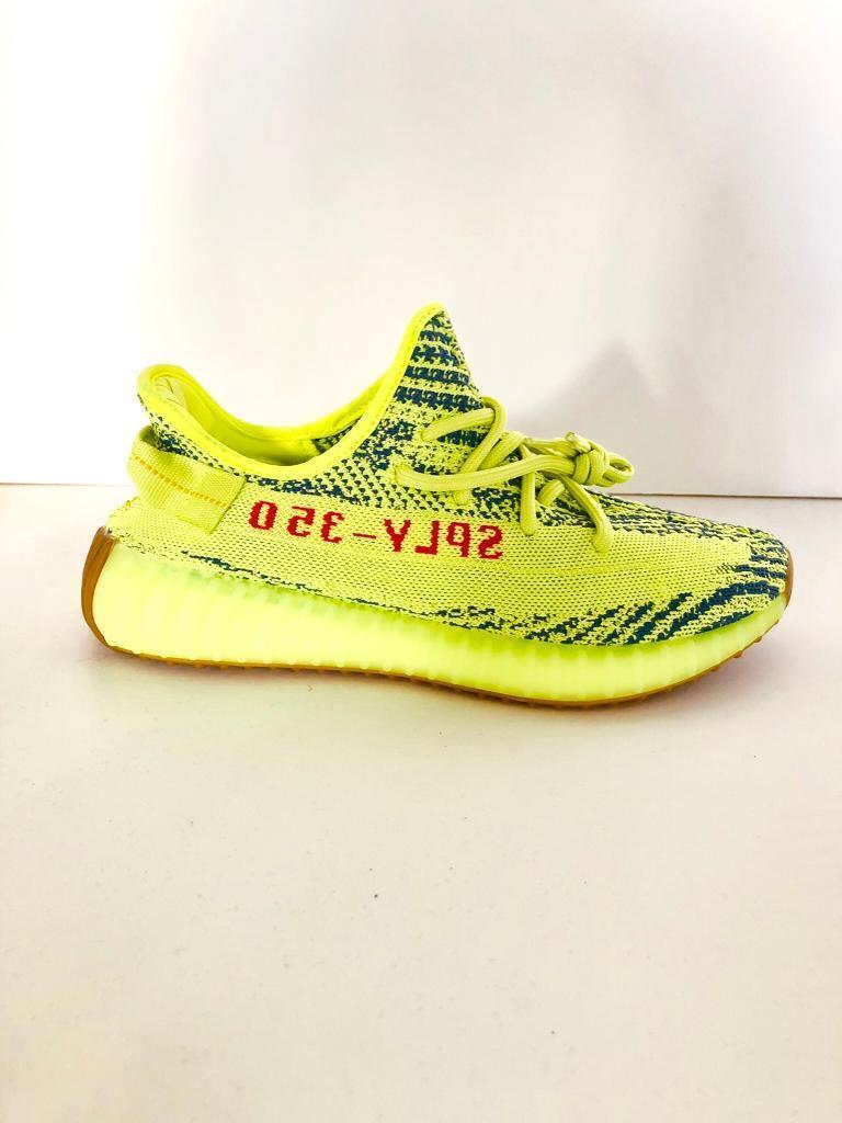 6d7dc6169d928 Adidas Yeezy Boost 350 V2 Semi Frozen Yellow UK9