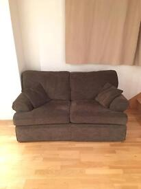 Grey/brown 2 seater m & s settee