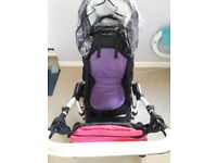 Used baby pram in good condition + rain cover