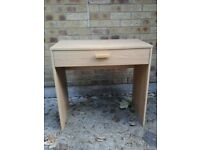 Light wood effect one drawer vanity table great condition