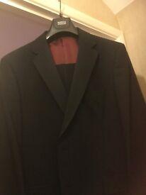 Man's black Dinner Suit jacket 44chest. Trousers 36 Waist