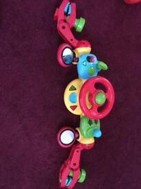 Baby travel clip on toy