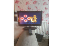 "for sale 19"" hd lcd iwescreen tv withfreeview and remote £25"