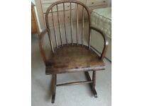 Rocking chair, wooden