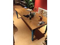 Large country kitchen table