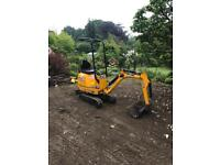 JCB 8008 CTS DIGGER with 3 buckets