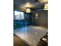 LED DANCE FLOOR IN WHITE FOR HIRE